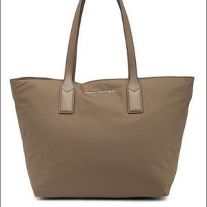 Marc Jacobs Nylon Wingman Tote Bag Stone Grey